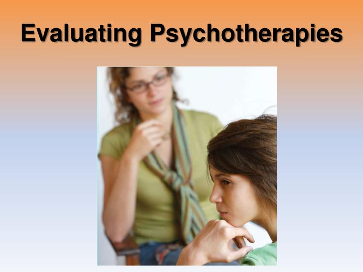 Evaluating Psychotherapies