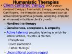humanistic therapies1