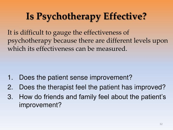 Is Psychotherapy Effective?