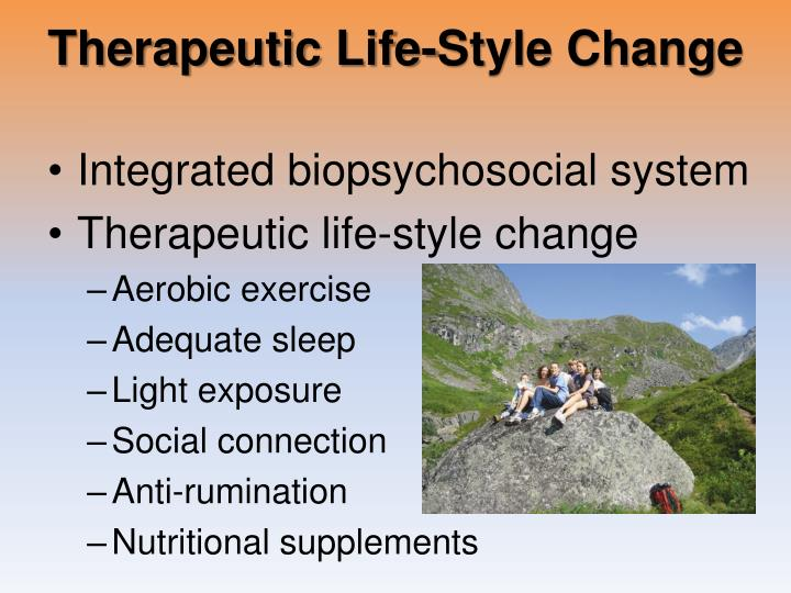 Therapeutic Life-Style Change