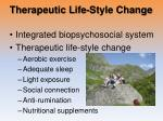 therapeutic life style change