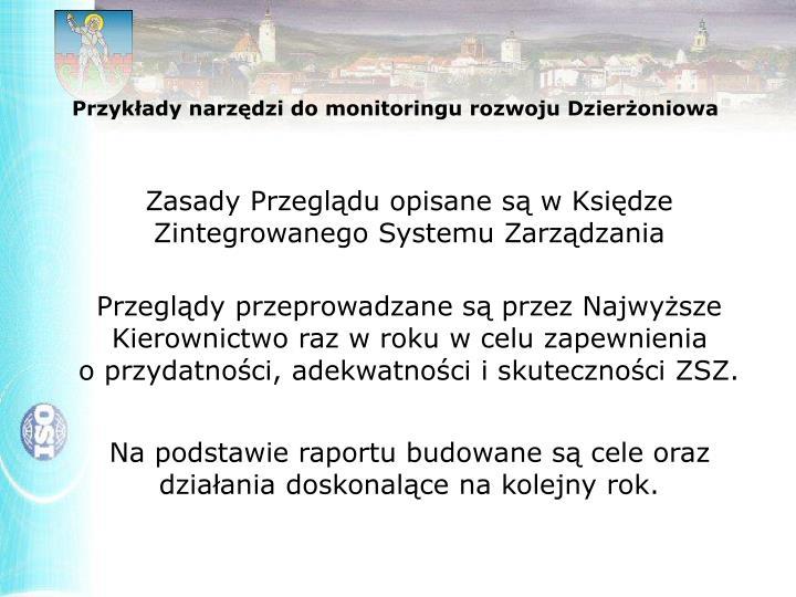 Przykłady narzędzi do monitoringu rozwoju Dzierżoniowa