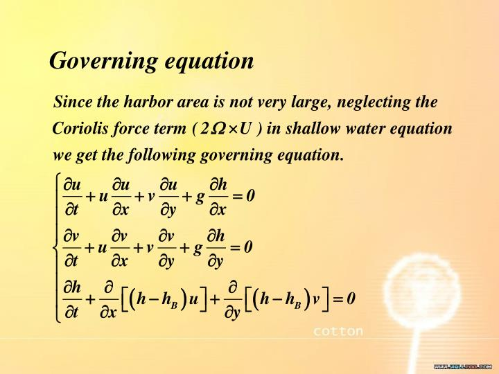 Governing equation