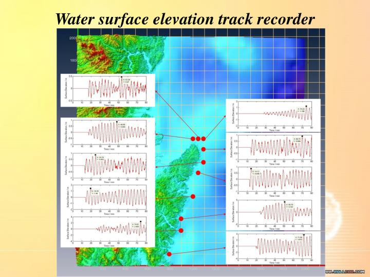 Water surface elevation track recorder