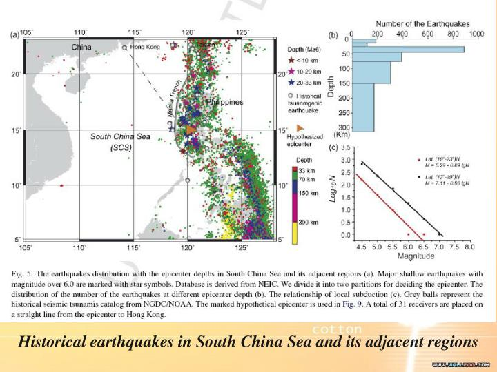 Historical earthquakes in South China Sea and its adjacent regions