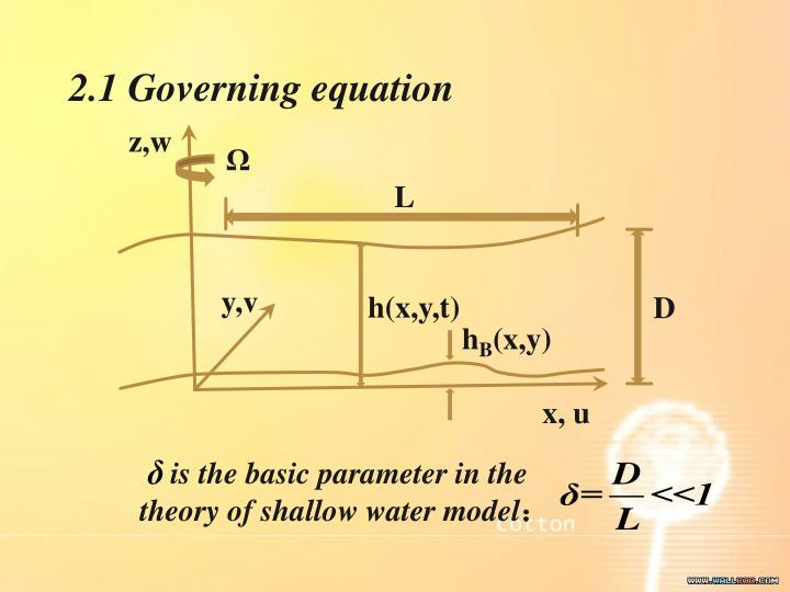 2.1 Governing equation
