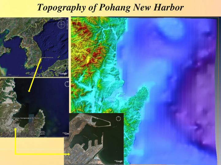 Topography of Pohang New Harbor