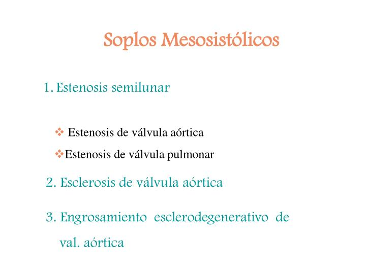 Soplos Mesosistólicos