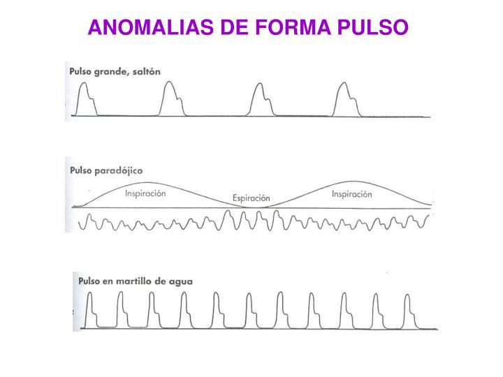 ANOMALIAS DE FORMA PULSO