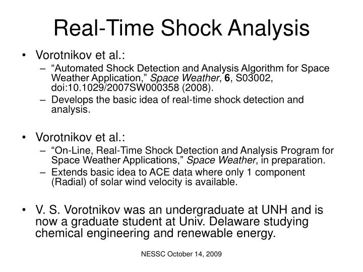 Real time shock analysis