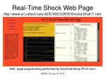 real time shock web page
