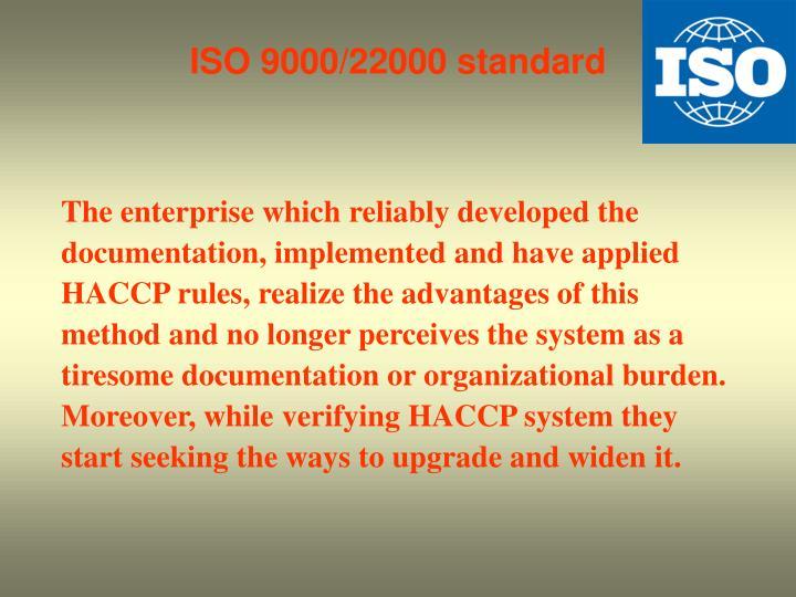 ISO 9000/22000 standard