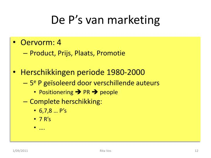De P's van marketing