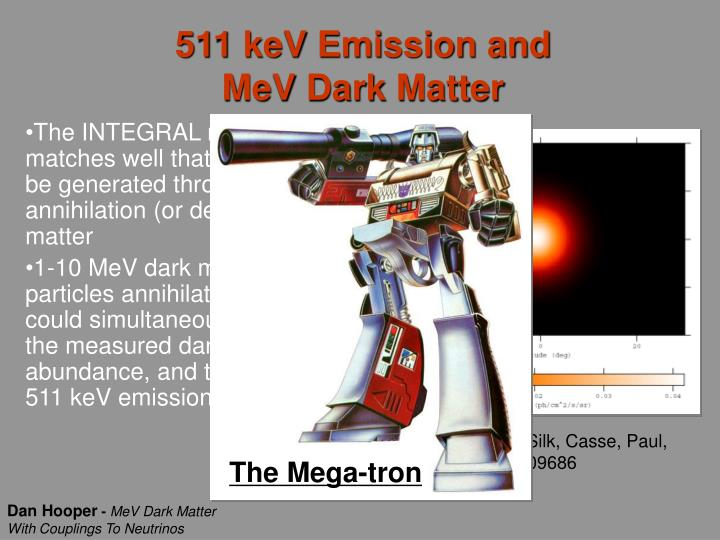 511 keV Emission and MeV Dark Matter
