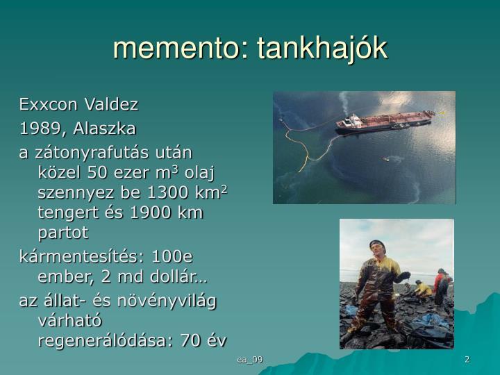 memento: tankhajók