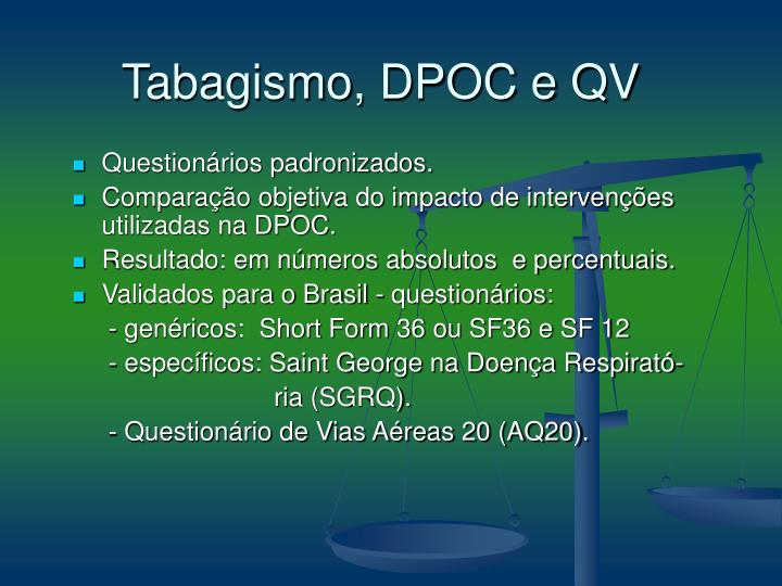 Tabagismo, DPOC e QV