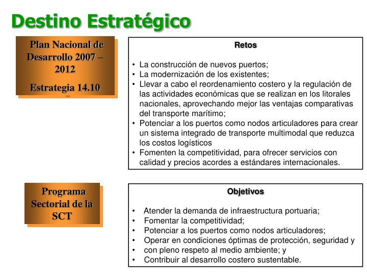 Plan Nacional de Desarrollo 2007 – 2012
