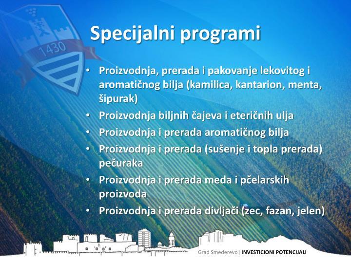 Specijalni programi