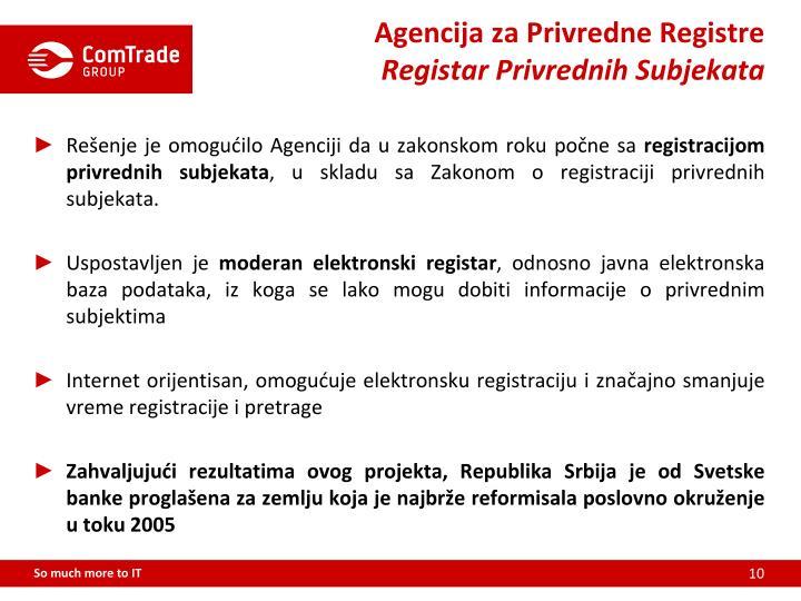 Agencija za Privredne Registre