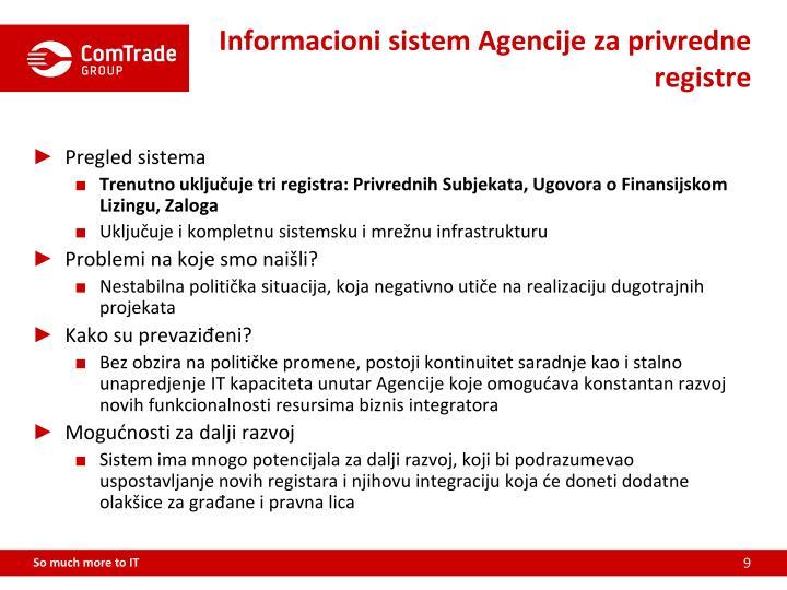 Informacioni sistem Agencije za privredne registre
