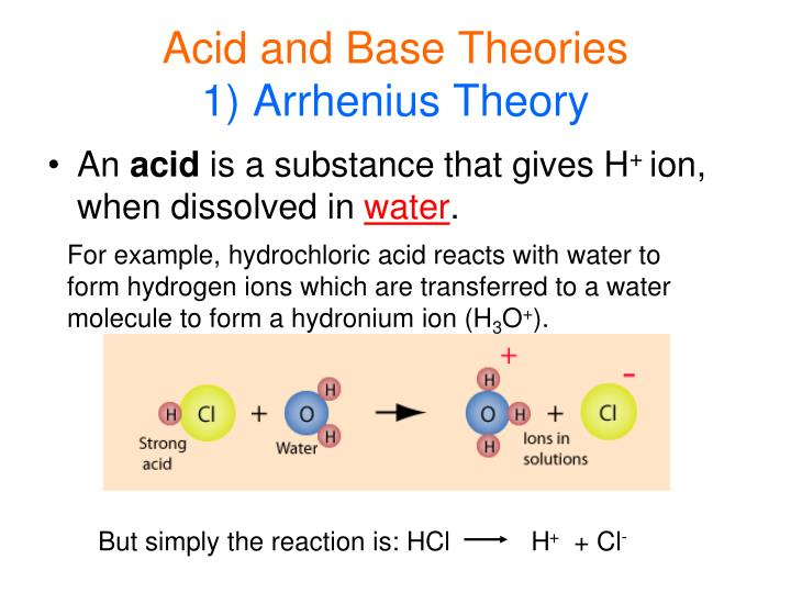 Acid and base theories 1 arrhenius theory