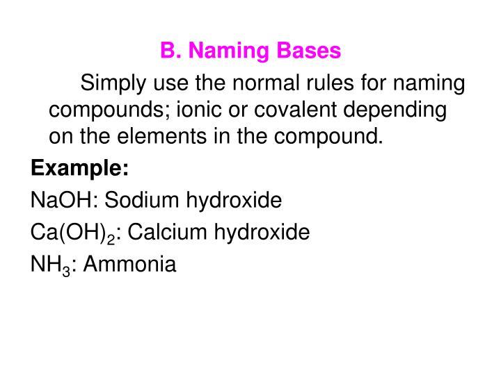 B. Naming Bases