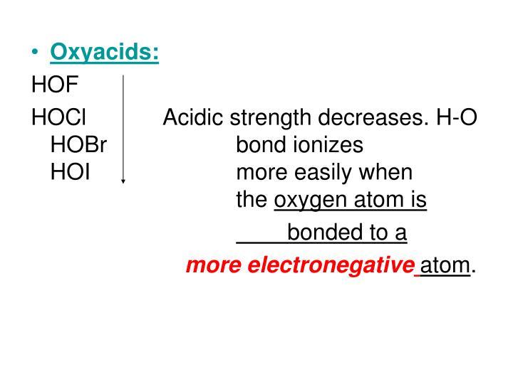 Oxyacids: