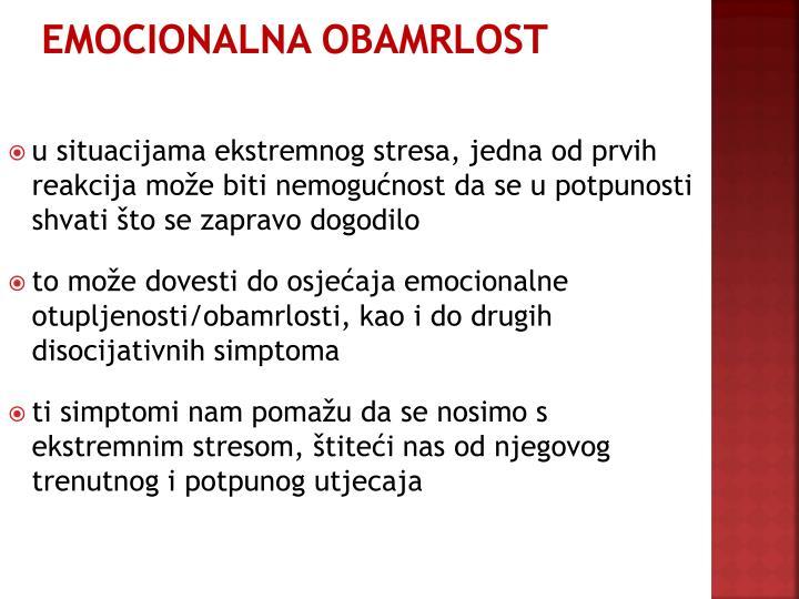 EMOCIONALNA OBAMRLOST