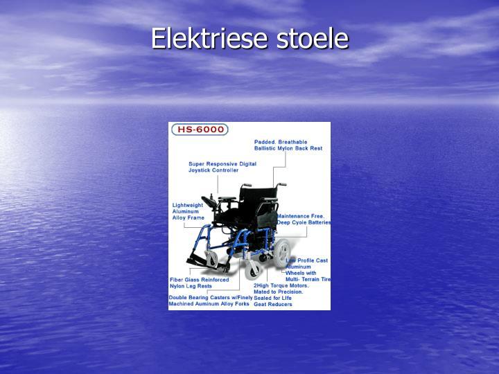 Elektriese stoele