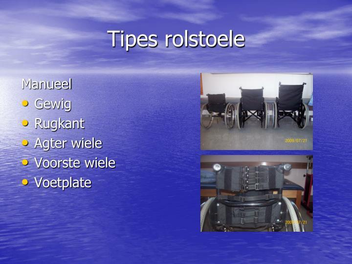 Tipes rolstoele