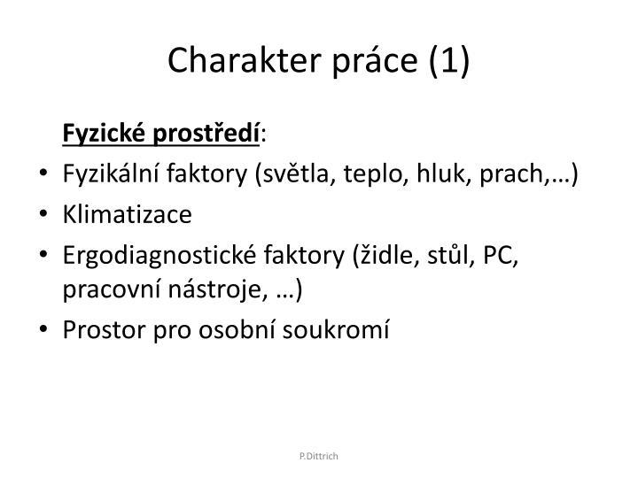Charakter práce (1)