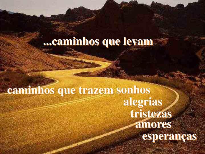 ...caminhos que levam