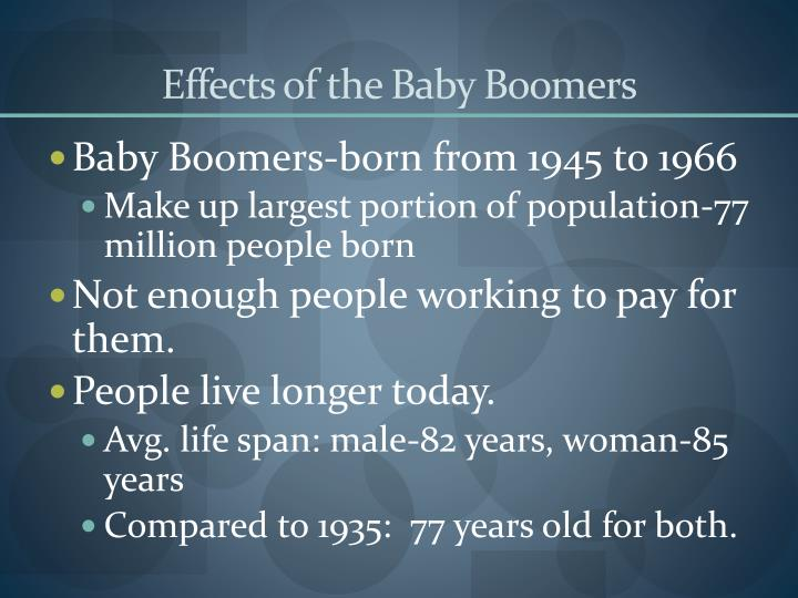 Effects of the Baby Boomers