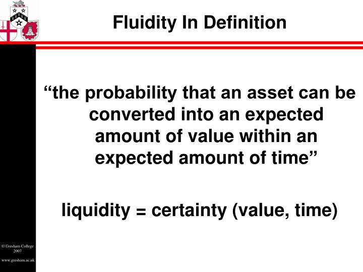 Fluidity in definition