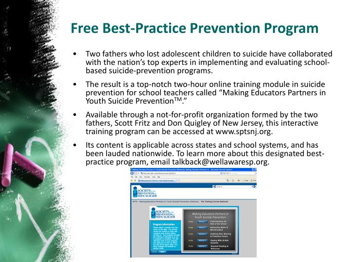 Free Best-Practice Prevention Program