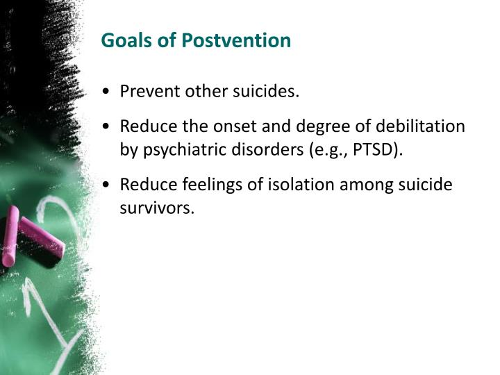 Goals of Postvention