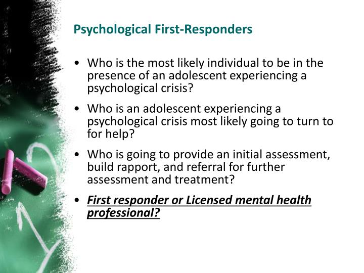 Psychological First-Responders