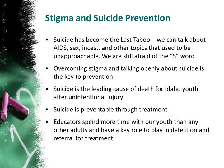 Stigma and Suicide Prevention