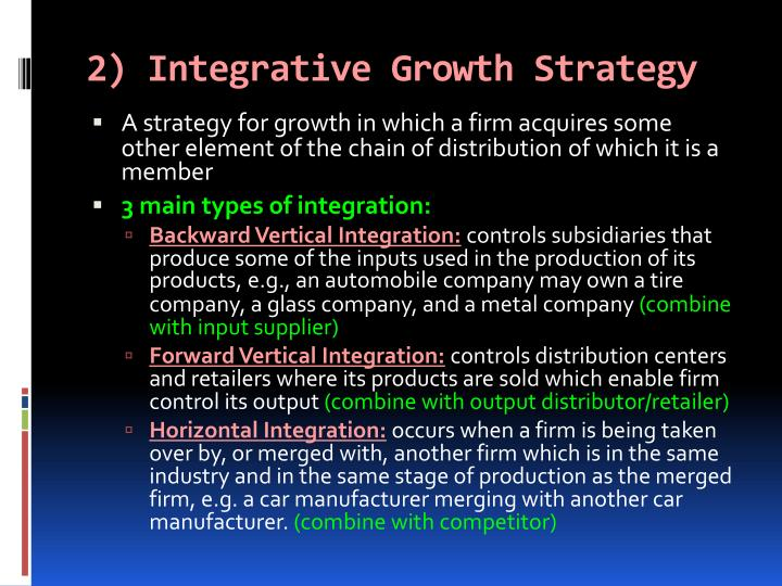 2) Integrative Growth Strategy