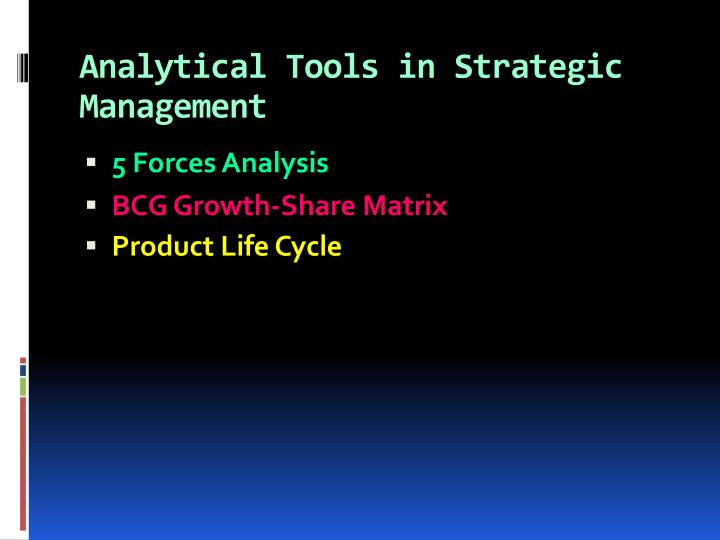 Analytical Tools in Strategic Management