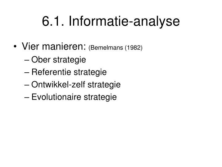 6.1. Informatie-analyse