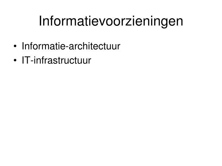 Informatievoorzieningen