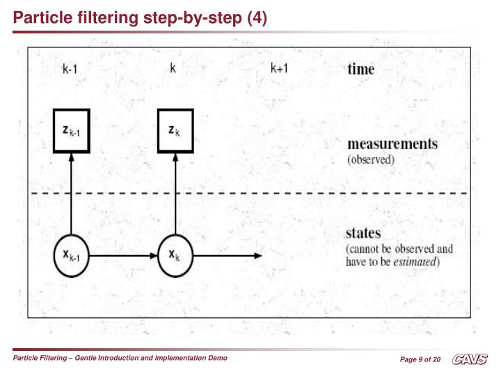 Particle filtering step-by-step (4)