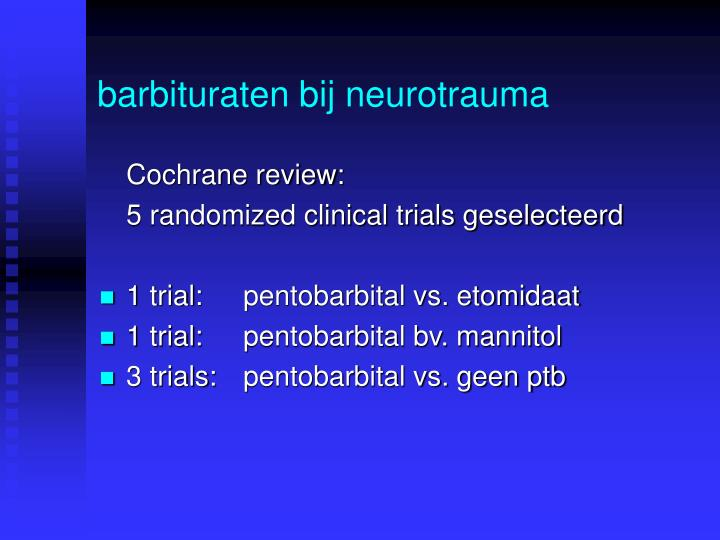 barbituraten bij neurotrauma