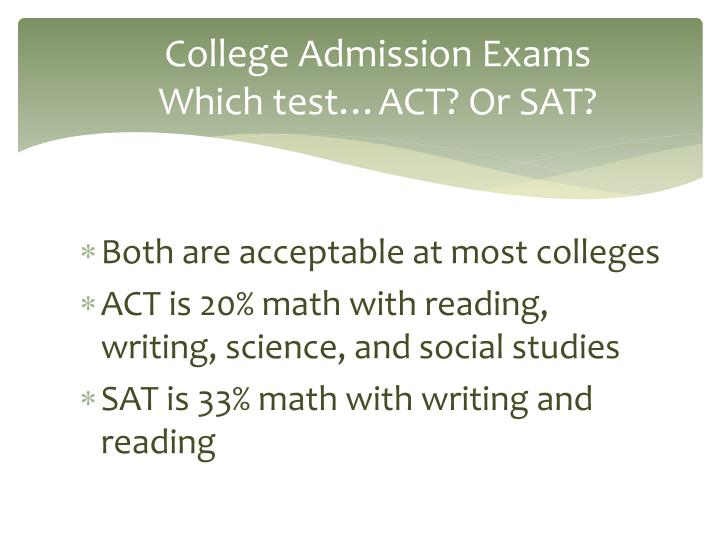 College Admission Exams