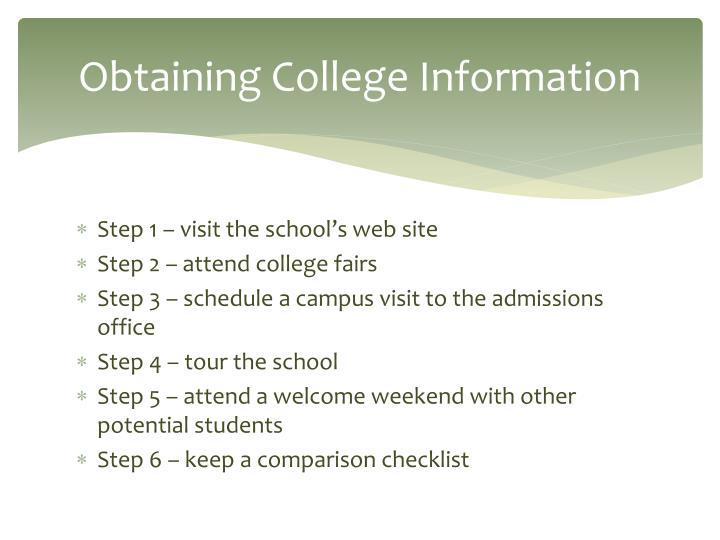 Obtaining College Information