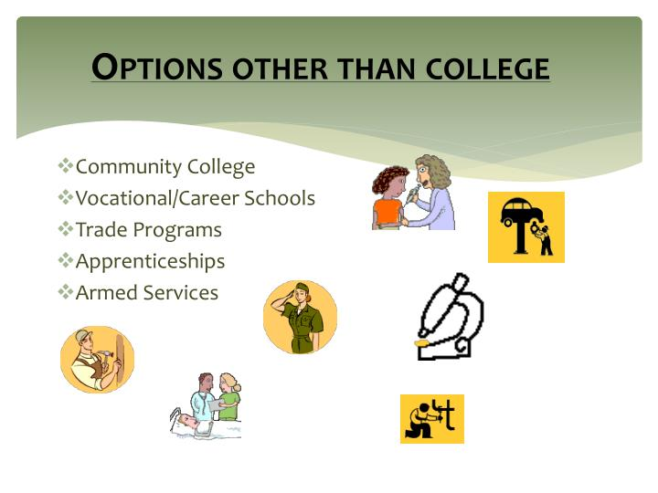 Options other than college