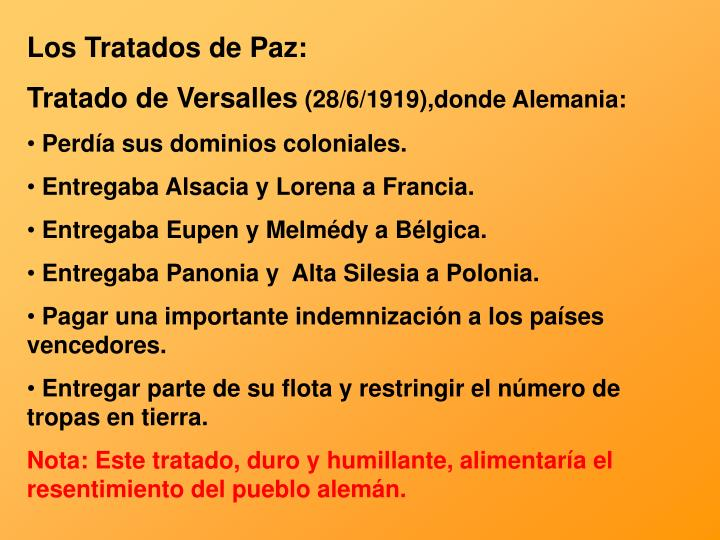 Los Tratados de Paz: