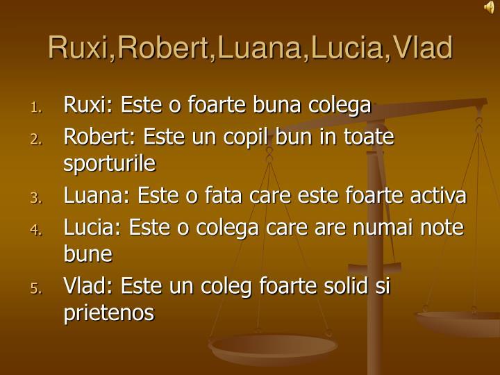Ruxi,Robert,Luana,Lucia,Vlad