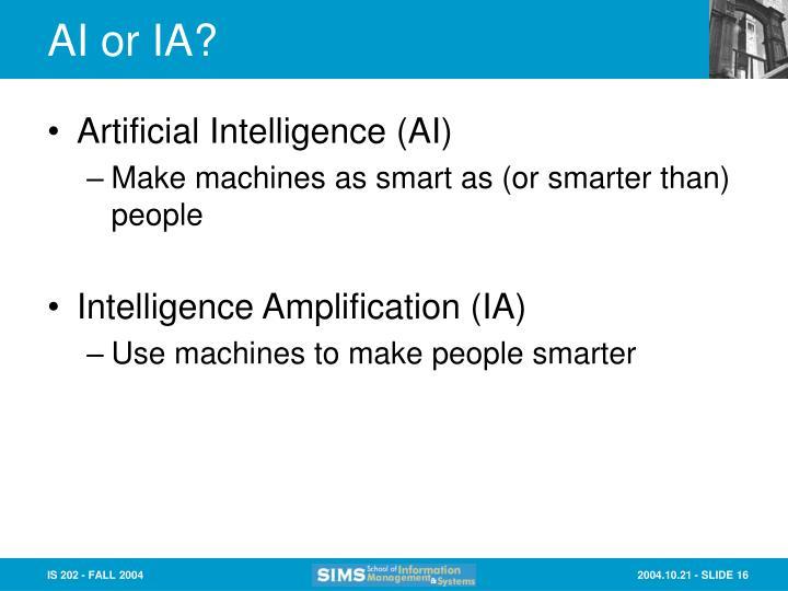 AI or IA?